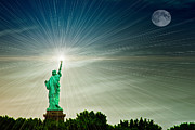 Torch Photos - Lady Liberty by Tom York