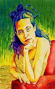 Lady N Colour Print by Jose Miguel Barrionuevo