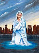 Camelot Painting Prints - Lady of All Nations Print by Linda Diane Taylor