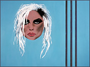 Debbie Painting Posters - Lady of the eighties Poster by Bruce Stanfield