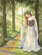 Ann Gates Fiser Art - Lady of the Forest by Ann Gates Fiser