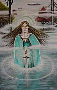 King Arthur Paintings - Lady of the Lake II by Tammy Mae Moon