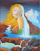 Signed Originals - Lady of the Mountain by Ron Thompson