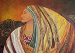 Indian Pastels Posters - Lady of the Mountains Poster by Candy Mayer
