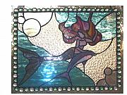 Dolphin Glass Art - Lady of the Sea by Liz Shepard