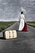 Luggage Metal Prints - Lady On The Road Metal Print by Joana Kruse