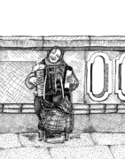 Lady Playing An Accordion Print by Karl Addison