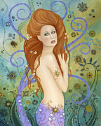 Mermaid Prints - Lady Poseidon Print by BK Lusk