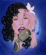 Blues Painting Originals - Lady Sing Those Blues by Shellton Tremble