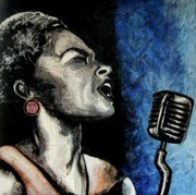 Anni Morris Art - Lady Sings the Blues by Anni Morris