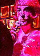 Nightclub Drawings Posters - Lady Sings the Blues Poster by Elizabeth Hoskinson