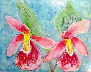 Mixed-media Reliefs - Lady Slippers by Anastasia Verpaelst