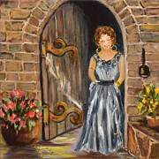 Hardware Painting Posters - Lady Waiting Poster by Pati Pelz