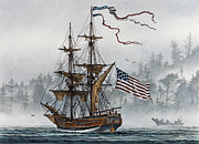 Nautical Greeting Card Prints - Lady Washington Print by James Williamson