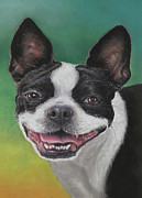 Terriers Pastels - Lady with a Big Smile by Pamela Humbargar