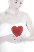 Lady With A Heart Print by Joana Kruse
