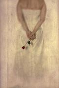 Lady With A Rose Print by Joana Kruse