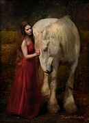 Horse Digital Art Prints - Lady With An Ermine  Print by Dorota Kudyba