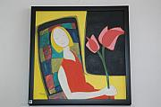 Mona Bhavsar - Lady With Flower