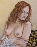 Young Lady Originals - Lady with Red Hair by Kenneth Kelsoe