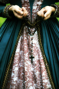 Elizabethan Posters - Lady With Rosary Poster by Joana Kruse