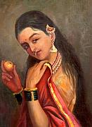 Ravi Art - Lady with the fruit by Sai Shyamala Ramanand