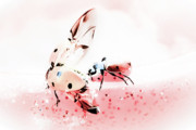 Antennae Digital Art - Ladybirds XI by Mandy Tabatt