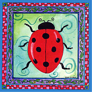 Corwin Paintings - Ladybug by Pamela  Corwin