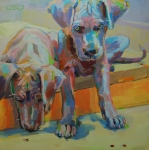 Great Dane Paintings - Ladybugs by Kimberly Santini