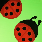 Ladybugs Framed Prints - Ladybugs Framed Print by Rebecca Mott
