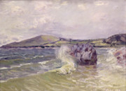 Hills Paintings - Ladys Cove Wales 1897 by Alfred Sisley