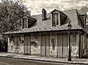 Kathleen K Parker - Lafittes Blacksmith Shop Bar in sepia