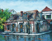 Bar Scene Paintings - Lafittes Blacksmith Shop by Dianne Parks