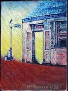 New Orleans Oil Paintings - Lafittes Blacksmith Shop from the Shortside by Charles McChesney