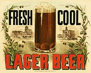 Lager Beer Print by Pg Reproductions