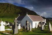 Belief Systems Prints - Lagg Church, Inishowen Peninsula, Co Print by The Irish Image Collection