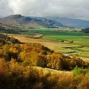 John Kelly Prints - Laggan Autumn - The Clan McPhersons Seat Print by John Kelly
