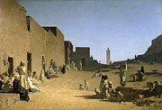 Standing Painting Framed Prints - Laghouat in the Algerian Sahara Framed Print by Gustave Caillebotte