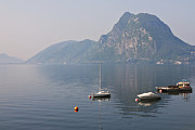 Haze Photo Framed Prints - Lago di Lugano Framed Print by Joana Kruse