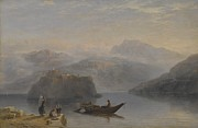 Fishing Painting Prints - Lago Maggiore Print by James Baker Pyne
