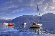 Sail Boats Framed Prints - Lago Maggiore Framed Print by Joana Kruse