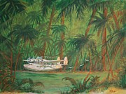 American Airways Prints - Lagoon Landing Print by William Bezik