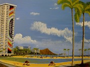 Scott Phillips Art - Lagoon On Waikiki by Scott Phillips