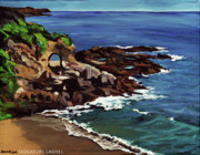 Laguna Beach Paintings - Laguna Beach en Plein Air by Signature Laurel