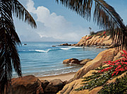Laguna Beach Painting Metal Prints - Laguna Beach Painting of Rockpile Beach Metal Print by Cliff Wassmann