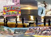 Playing Digital Art Originals - Laguna Beach Postcard by Phil Powers