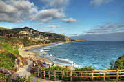 Waterscape Posters - Laguna Beach Shoreline Poster by Eddie Yerkish