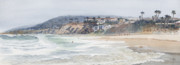 Laguna Beach Painting Metal Prints - Laguna Beach Metal Print by Tom Dorsz