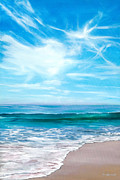 Laguna Beach Painting Metal Prints - Laguna Christmas Metal Print by Lisa Reinhardt