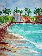 Waterscape Painting Prints - Lahina Bay Maui Print by Cheryl Ehlers